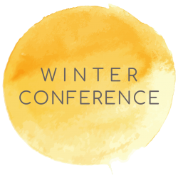winter conference button