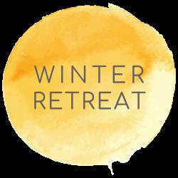 winter retreat button
